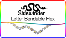 Sidewinder LED, Letter Bendable Flex