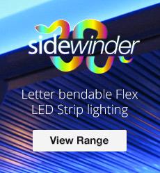 Sidewinder LED, Letter Bendable Flex