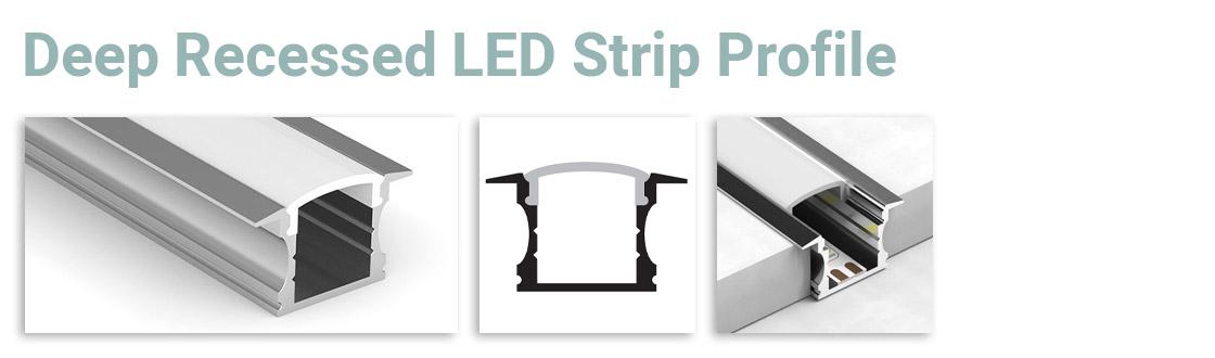 Deep Recessed LED Strip Profile
