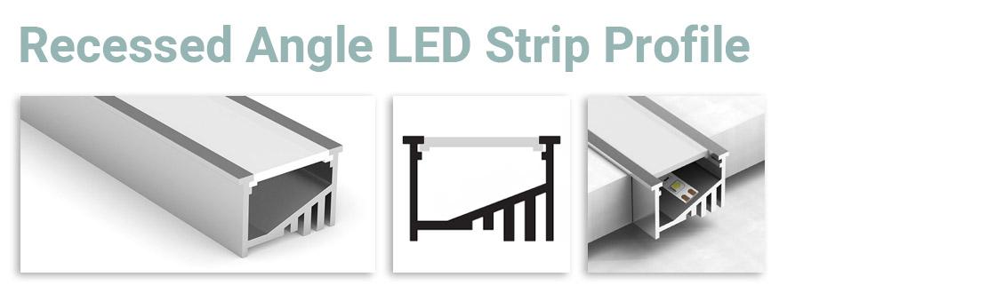 Recessed Angle LED Strip Profile