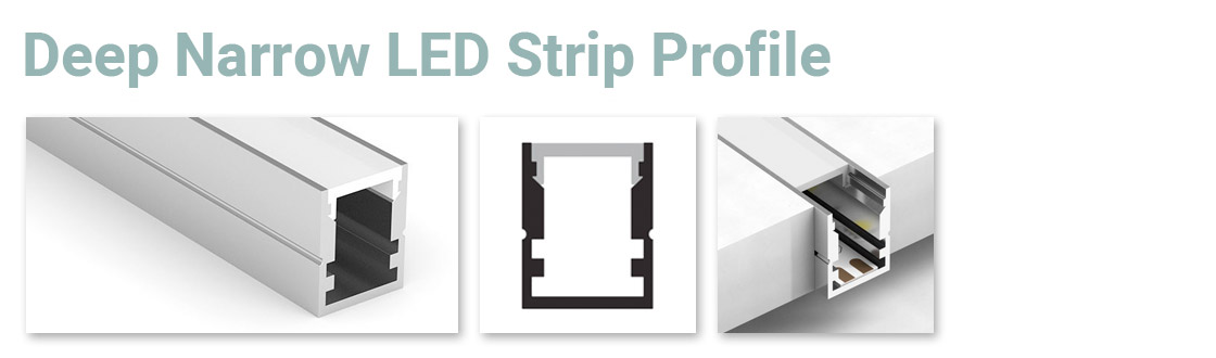 Deep Narrow LED Strip Profile 1 MTR