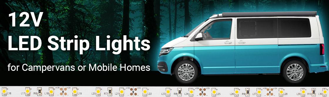 12V LED Strip Lights for Campervans or Mobile Homes