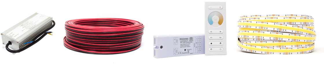 Products for an CCT Strip Light Installation