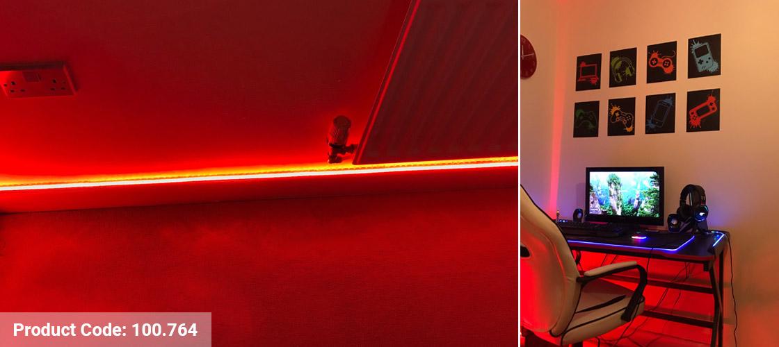 Lifestyle Red LED Strip Kit Installation