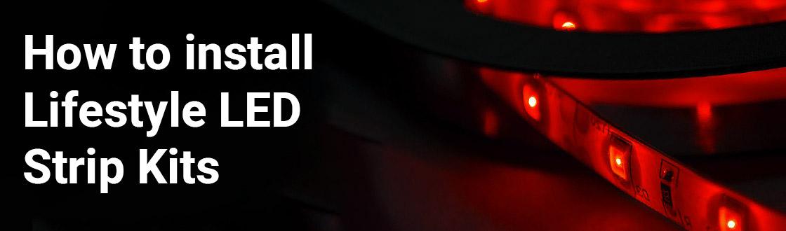 Lifestyle Red LED Strip Kit